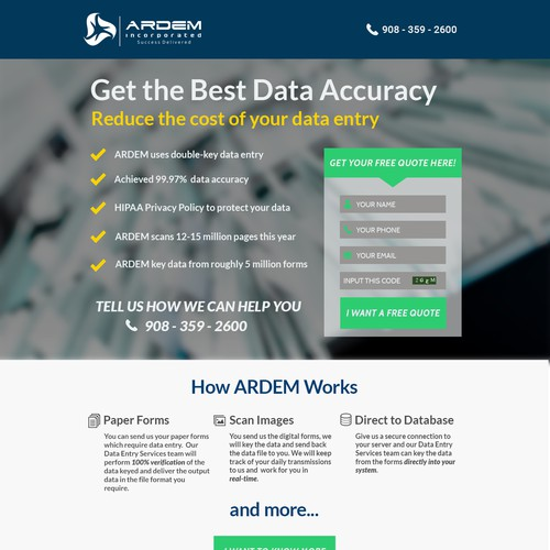 Data Entry Company Landing Page