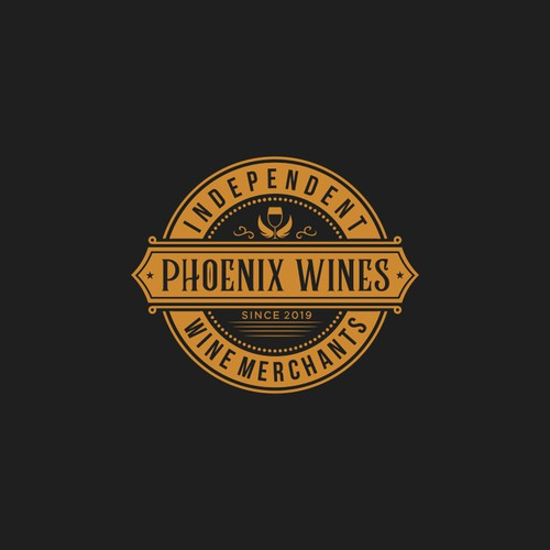 Vintage Logo Design For Wine Company