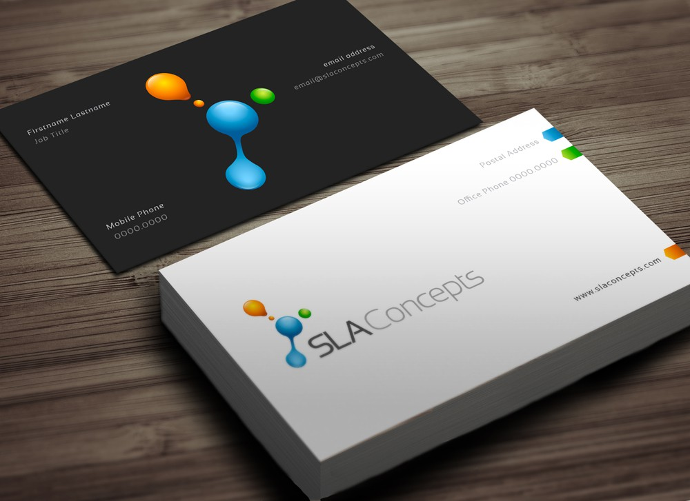 """First ofMANY jobs!!!! """"SLA Concepts"""" needs a logo and business cards"""
