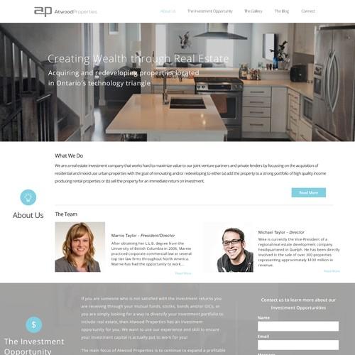 WordPress design for a unique Real Estate company