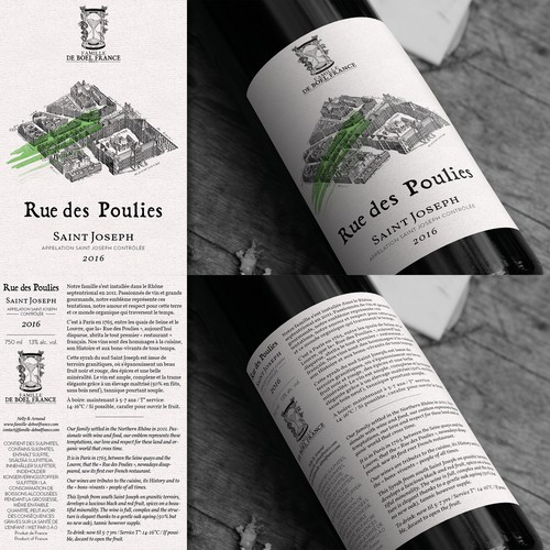 Label for a young winery