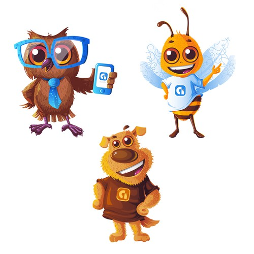 Character Design for Google Team