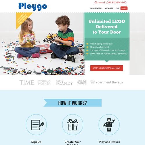 Website Design for Plego (LEGO rental website)