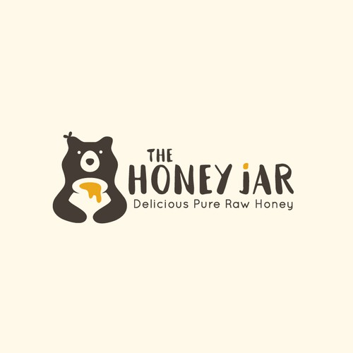 Simple and organic logo for The Honey Jar