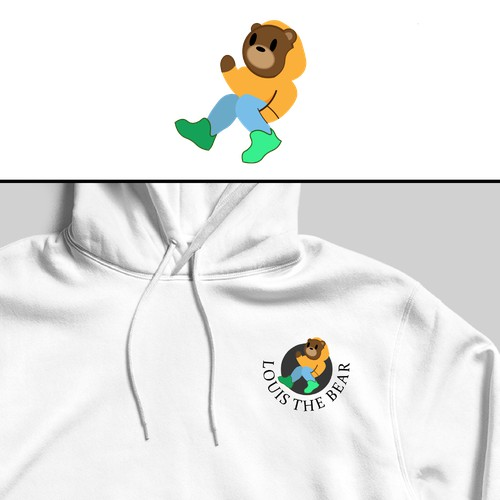 Louis the Bear logo concept
