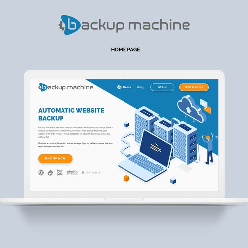 Redesign the Backup Machine website