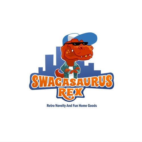 Character logo concept for Swagasaurus