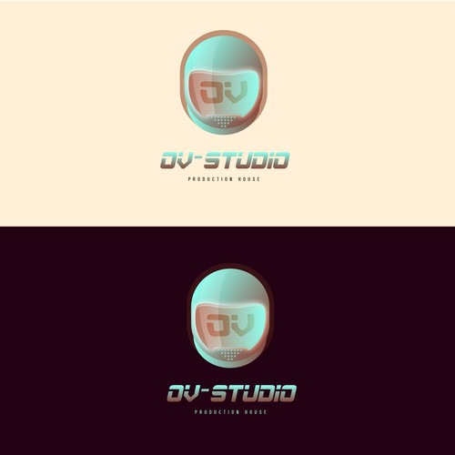 Astronaut theme Logo for Production House