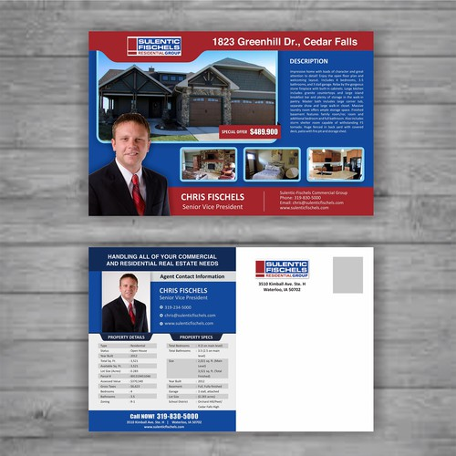 Top producing real estate agent needs a new, eye-catching postcard!