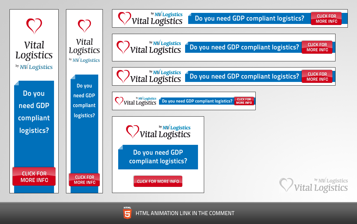 Vital Logistics needs a new banner ad