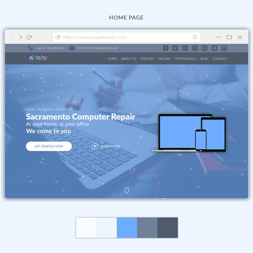 Web page redesign for omputer Repair & IT Services Company