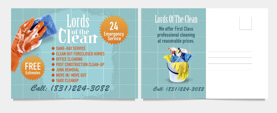 Create the next postcard or flyer for Lords Of The Clean
