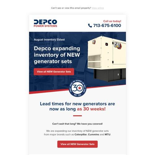 Depco email design