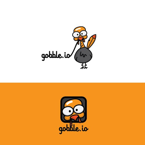 Fun turkey character for a new technology platform
