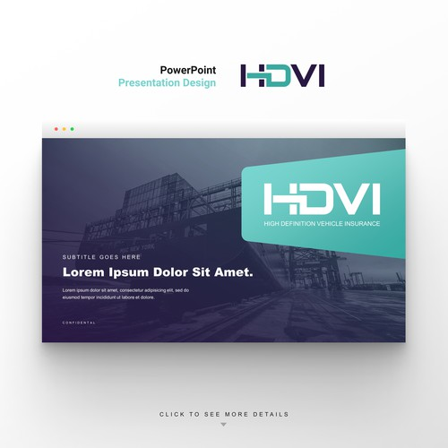 Fresh and contemporary corporate PowerPoint template