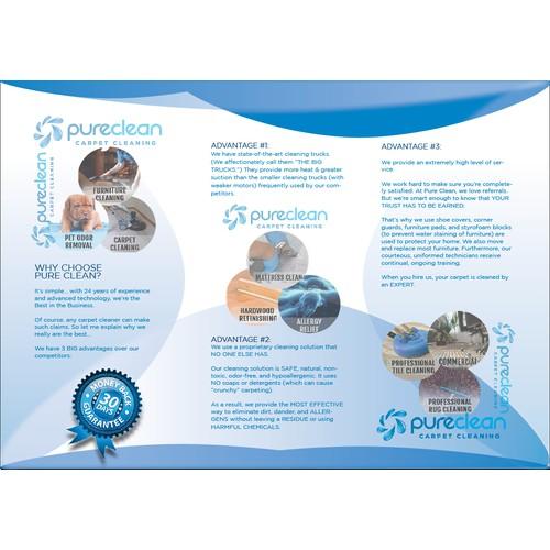 Create a winning brochure design for a high end carpet care company.