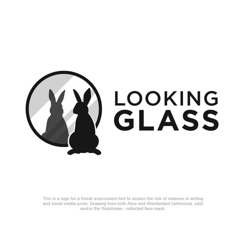 Looking Glass Threat Assessment Logo for Social Media and Written Narratives