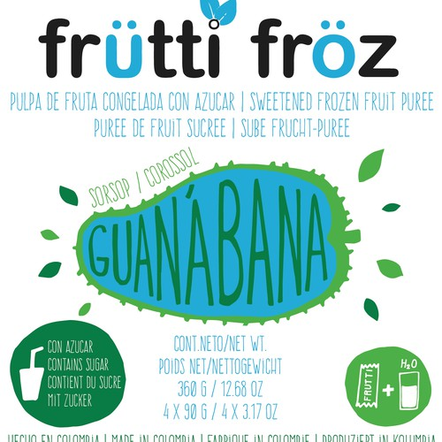 Guanabana label design
