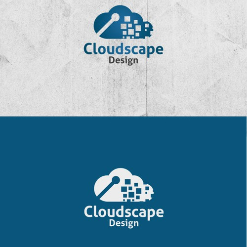 Help us create a logo for a Cloud technology company, Cloudscape Designs