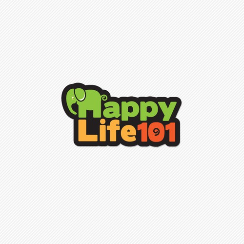 Playful logo for Happy Life