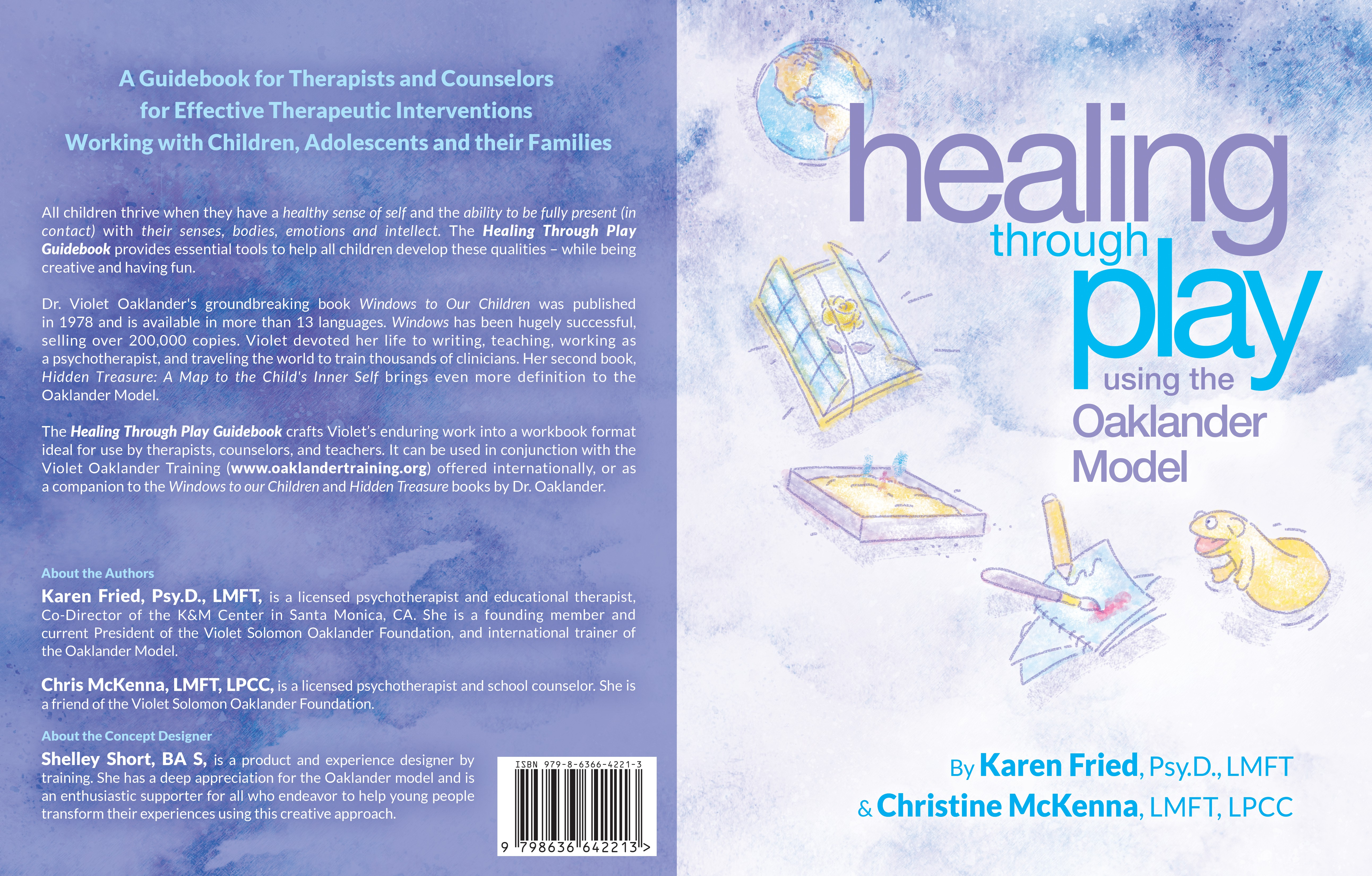 book cover for a workbook on child therapy