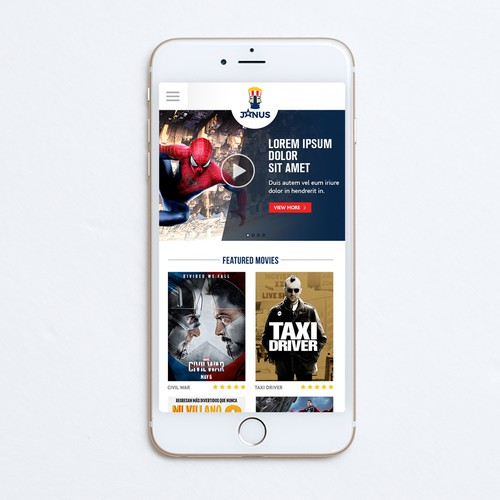 JANUS web design - mobile
