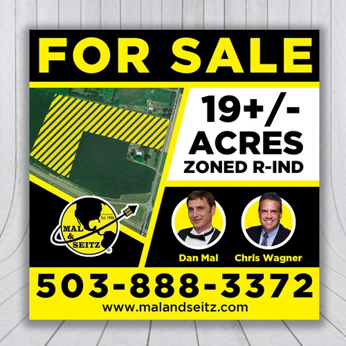 Signage for Mal & Seitz Real Estate