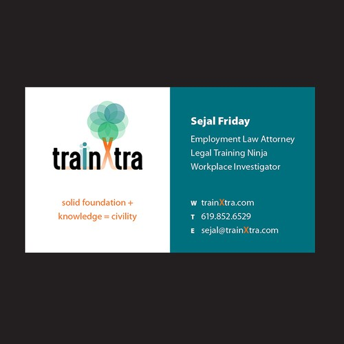 TrainXtra business card