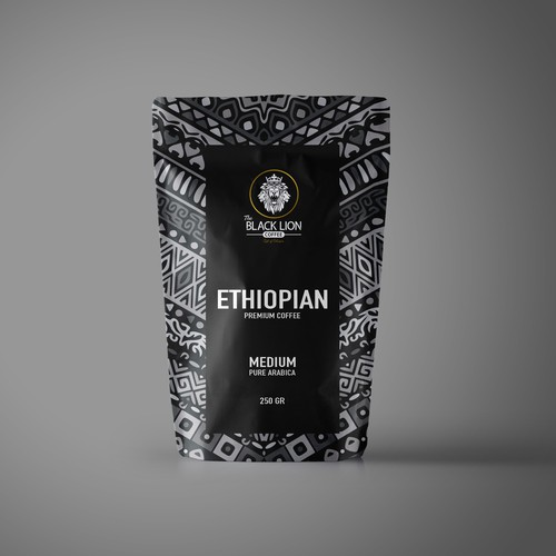Packaging The Black Lion Coffee