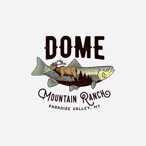 Hand drawn logo for Dome Mountain Ranch