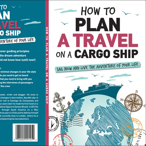 Book cover for travelling around the world on a cargo ship