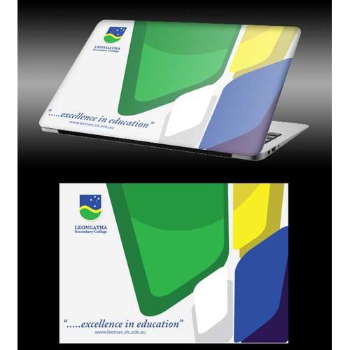 Fun, modern design for a MacBook Air hardcover / skin!