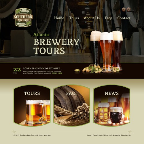 Create a website for a new beer tour company in Atlanta! More opportunities to follow!