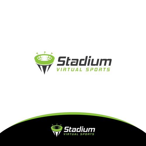 Stadium Virtual Sports Formal Logo Design