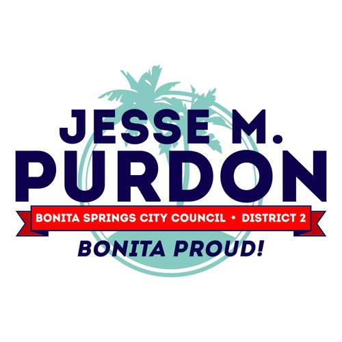 Runner-Up design for Jesse M. Purdon for City Council