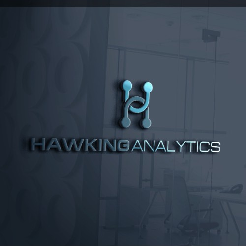 lettermark logo concept for hawking analytics