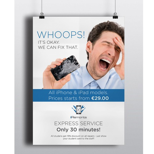 B2 Poster for iPhone and iPad repair shop