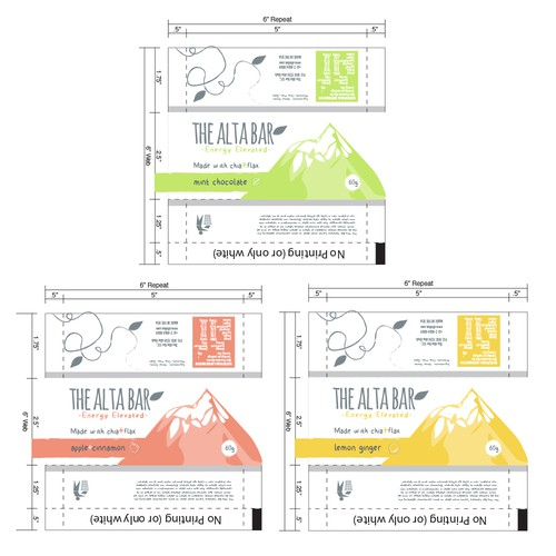 Design the packaging for our new line of energy bars