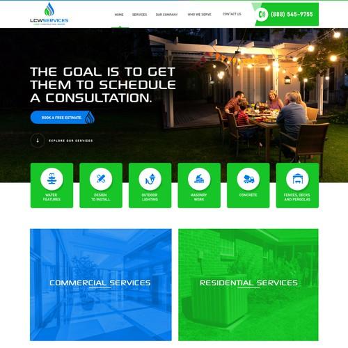 LCW Services Website UI Design