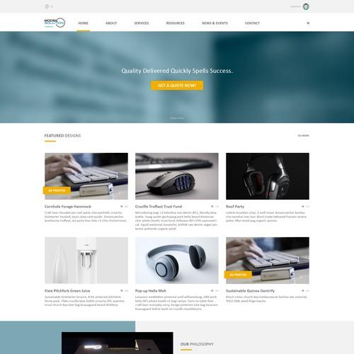 Model Solution Home Page Design