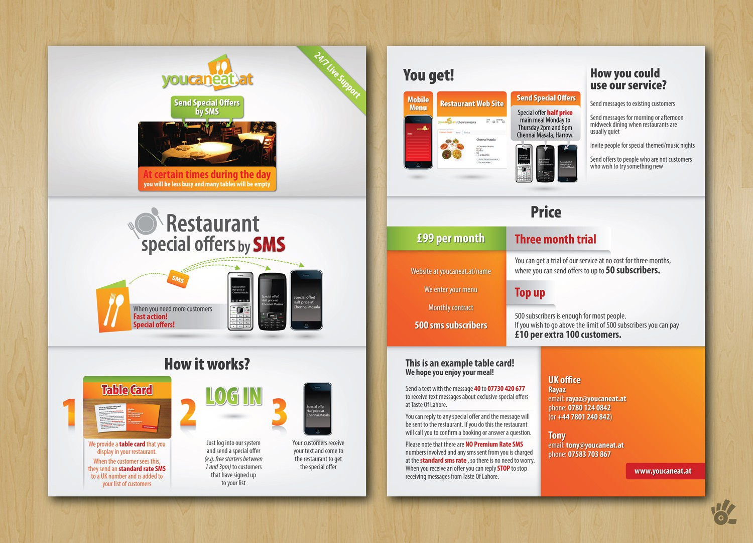 brochure design for youcaneat.at