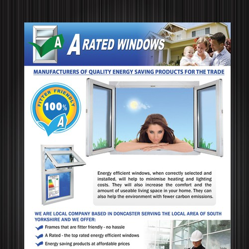 No nonsense leaflet for energy efficient windows