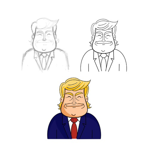 Donald trump cartoon character