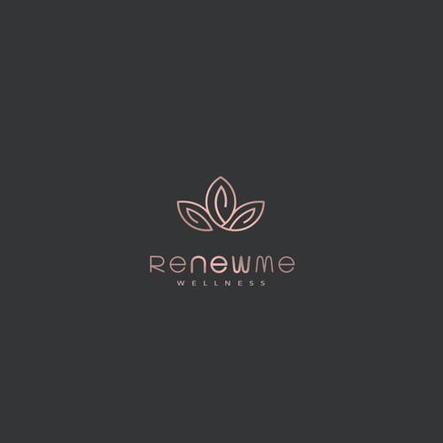 Renew Me. Clean logo for healer