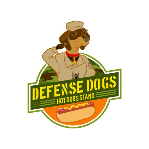 Hot Dog Stand with military theme
