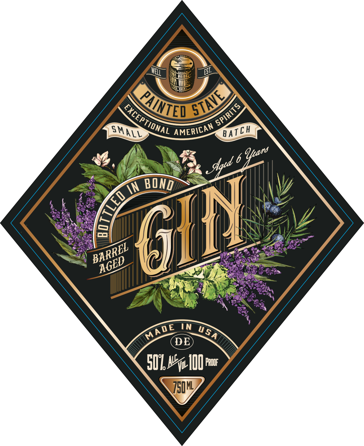 Bottled In Bond Gin Label