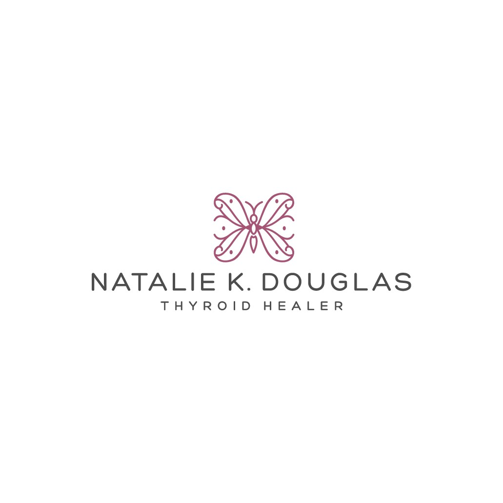 Warm, feminine and classy? Pour your personality into this logo design for a Thyroid Healer!