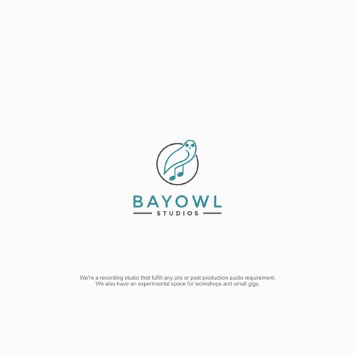 Unique logo for Bay Owl Studios