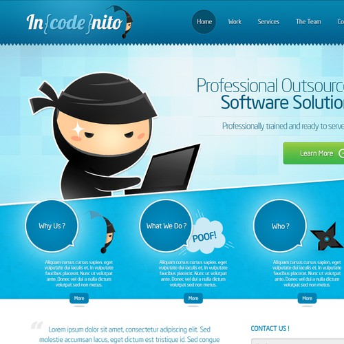 Incodenito Inc needs a new website design