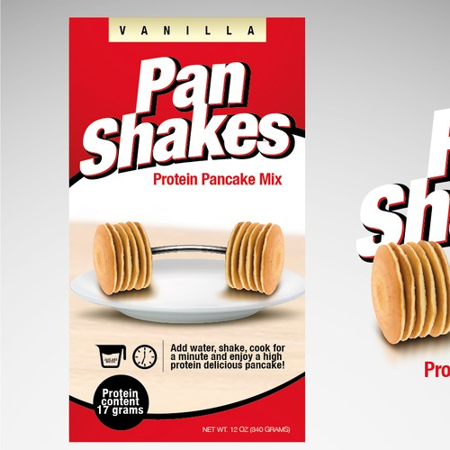 Packaging Design for a Protein Pancake Shake